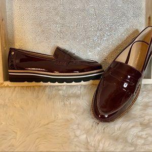 Antonio Melani Burgundy Patent Leather Oxford